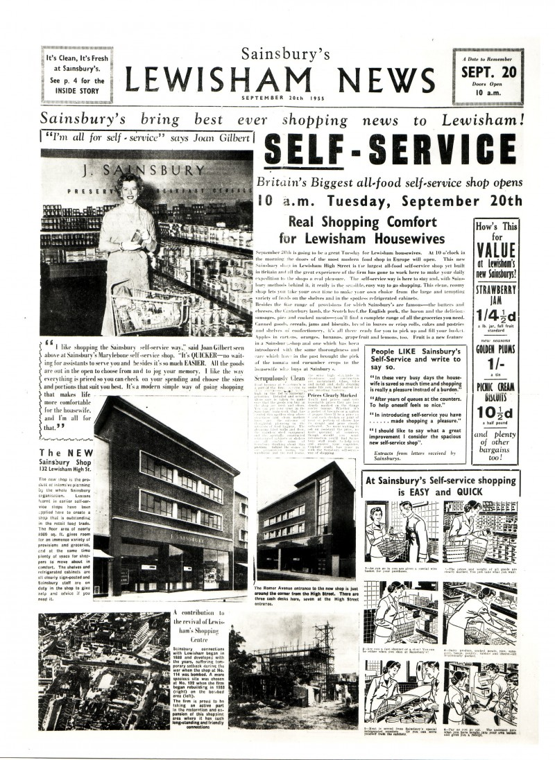 SA/MARK/ADV/1/2/1/1/4 - 'Sainsbury's Lewisham News', 1955
