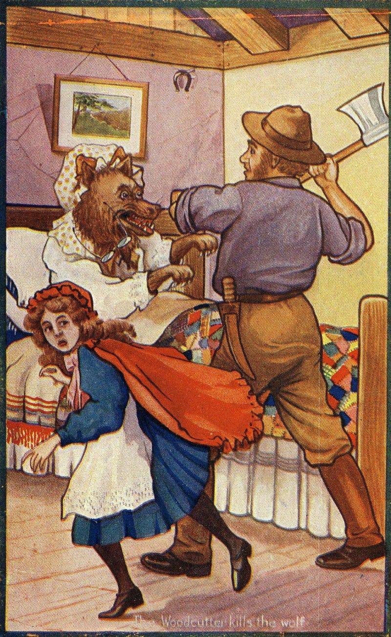 "Little Red Riding Hood"" tea advertising card V 