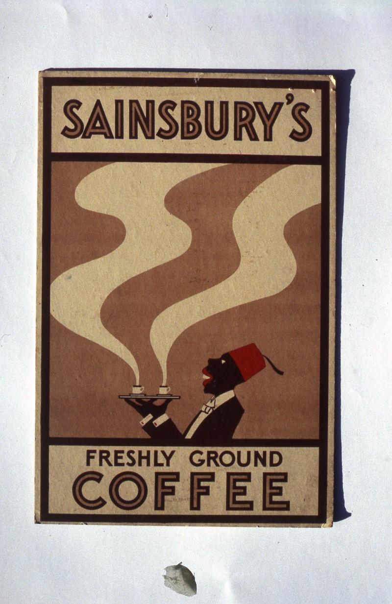 SA/MARK/ADV/IMA/1/2/1 - Slide photograph of Sainsbury's Freshly Ground Coffee advertisement