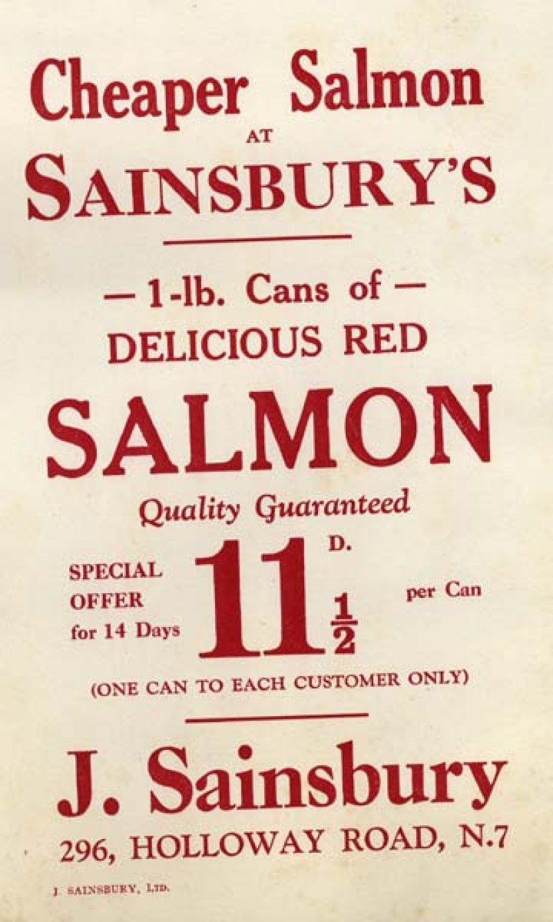 "SA/MARK/ADV/IMA/3/2/4/4 - Image of ""Cheaper Salmon at Sainsbury's"" advertisement"
