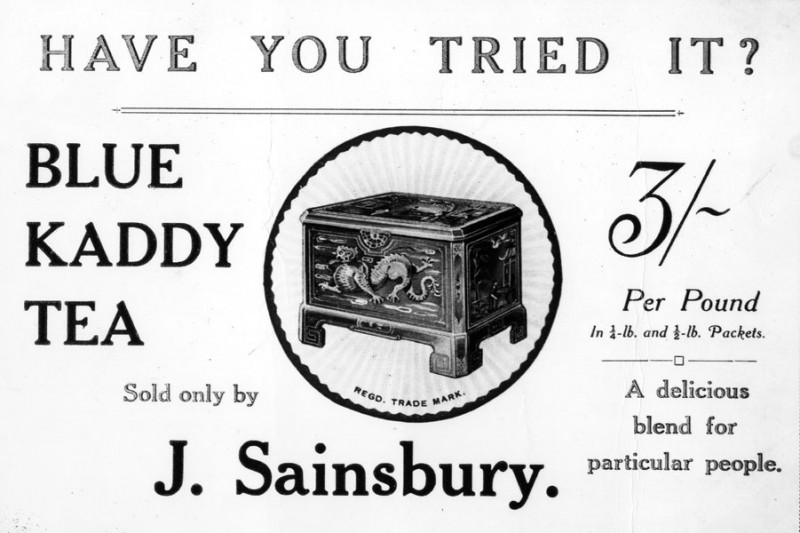 "SA/MARK/ADV/IMA/3/2/4/5 - Enlarged print of ""Have You Tried It? Blue Kaddy Tea"" postcard"