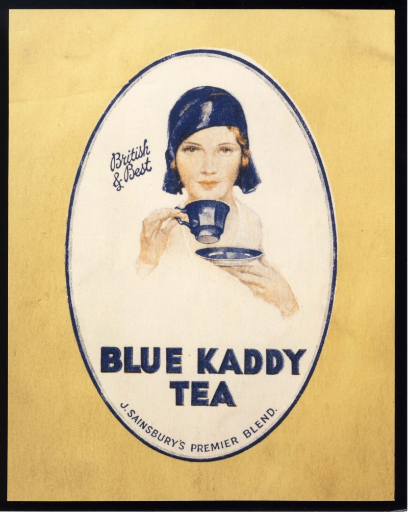 SA/MARK/ADV/IMA/3/2/4/6 - Blue Kaddy Tea advertisement featuring Amy Johnson