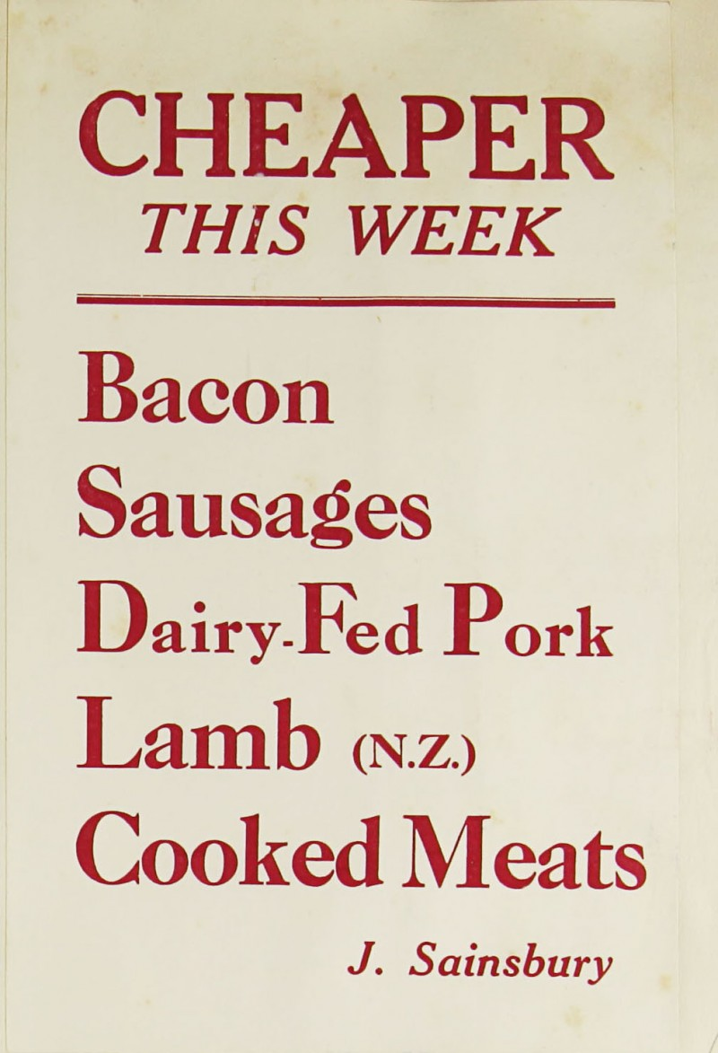 SA/MARK/ADV/1/1/1/1/1/9/105 - 'Cheaper This Week' advert, [1932]
