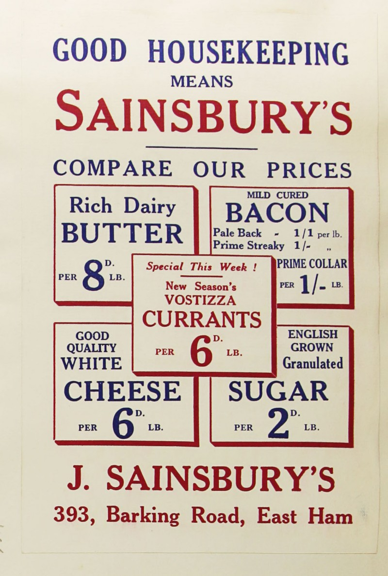 SA/MARK/ADV/1/1/1/1/1/9/165 - 'Good Housekeeping Means Sainsbury's' advert, [1934]