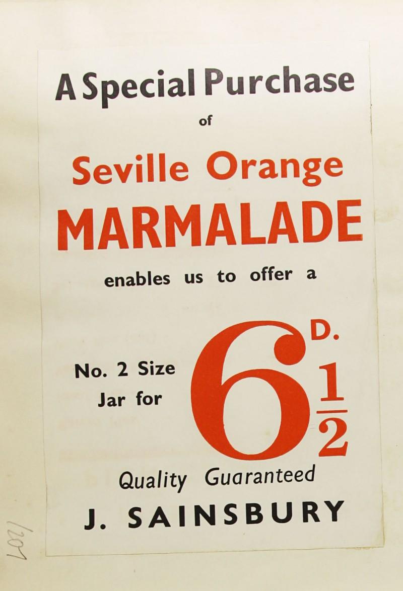 SA/MARK/ADV/1/1/1/1/1/9/207 - 'A Special Purchase of Seville Orange Marmalade' advert, [1935]