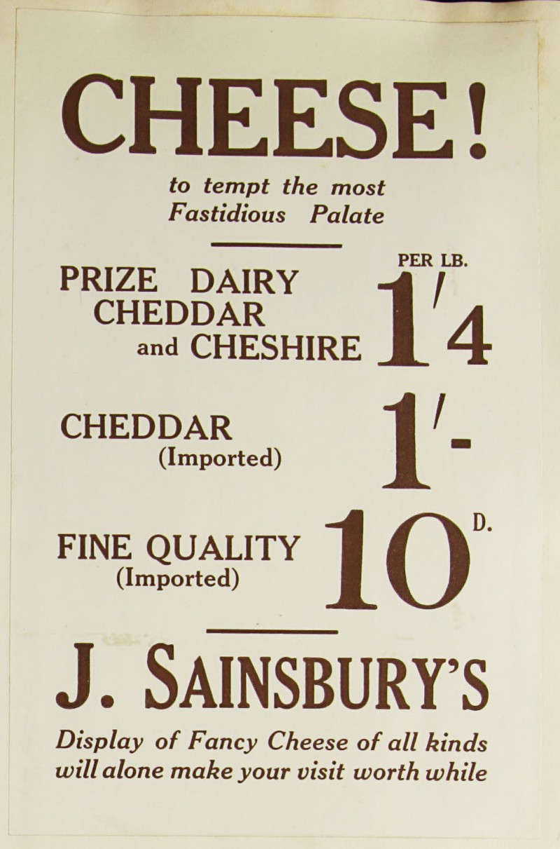 SA/MARK/ADV/1/1/1/1/1/9/72 - 'Cheese! to tempt the most Fastidious Palate' advert, c. 1920s-1930s
