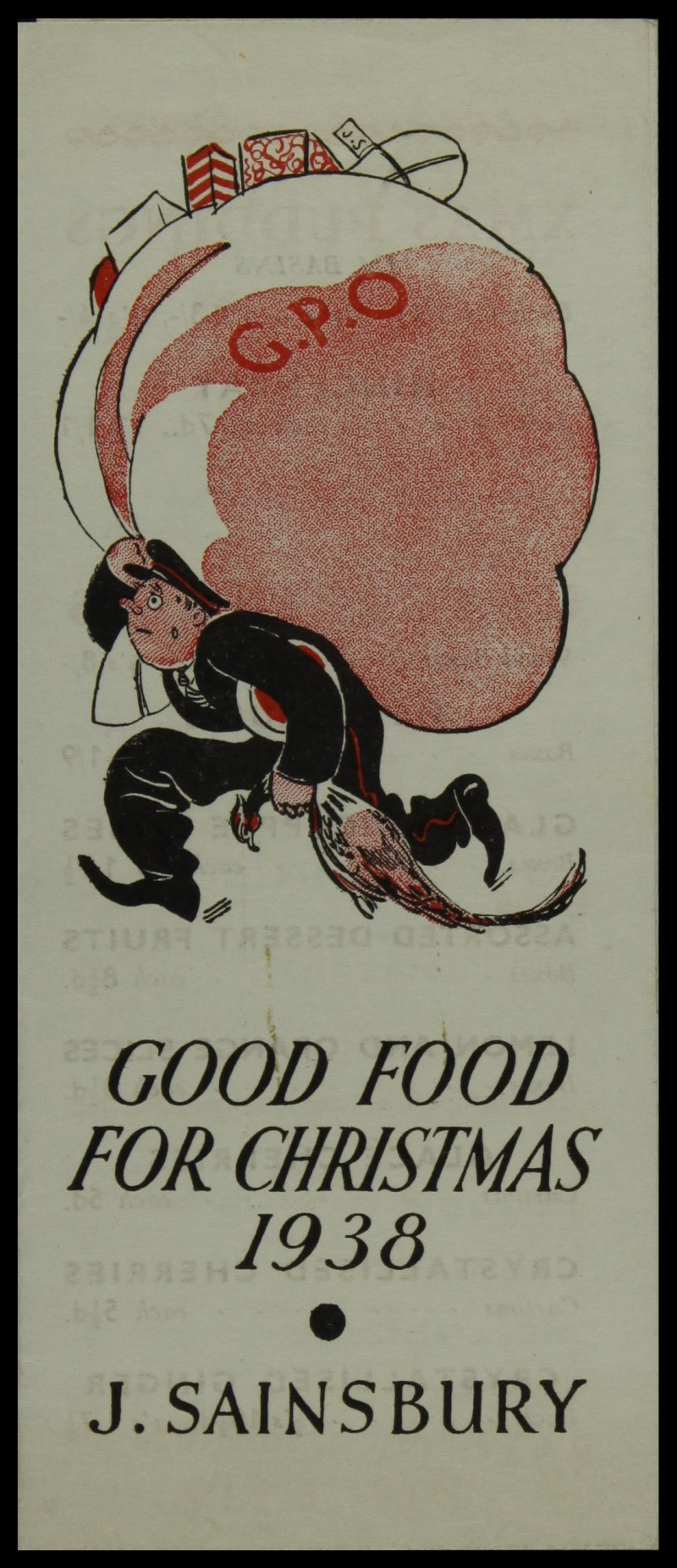 SA/MARK/ADV/3/3/6/1/18 - 'Good Food For Christmas' price list, 1938