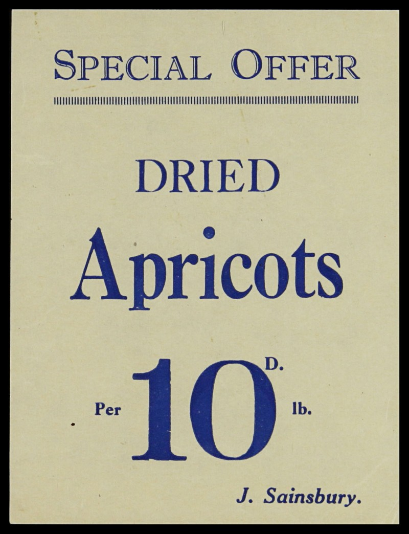 SA/MARK/ADV/3/3/7/5 - 'Special Offer. Dried Apricots' flyer