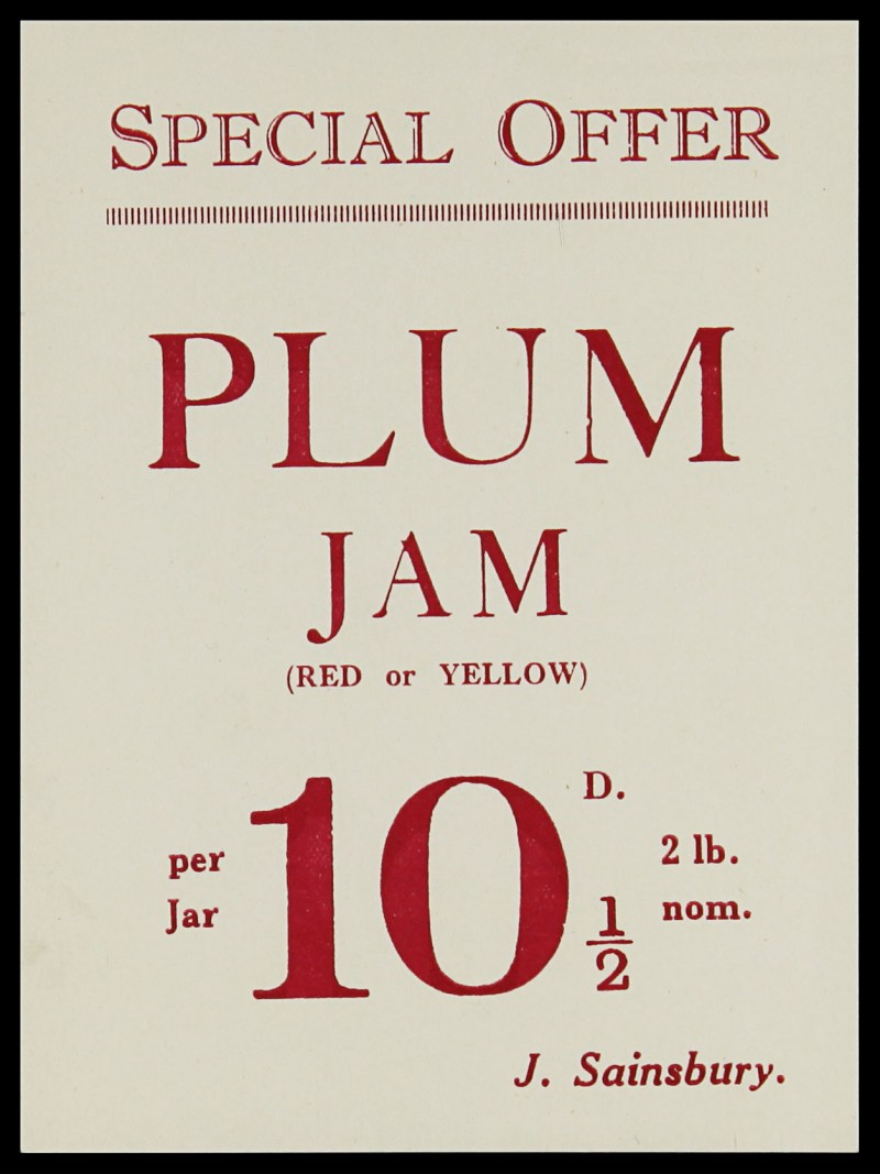 SA/MARK/ADV/3/3/7/6 - 'Special Offer. Plum Jam' leaflet