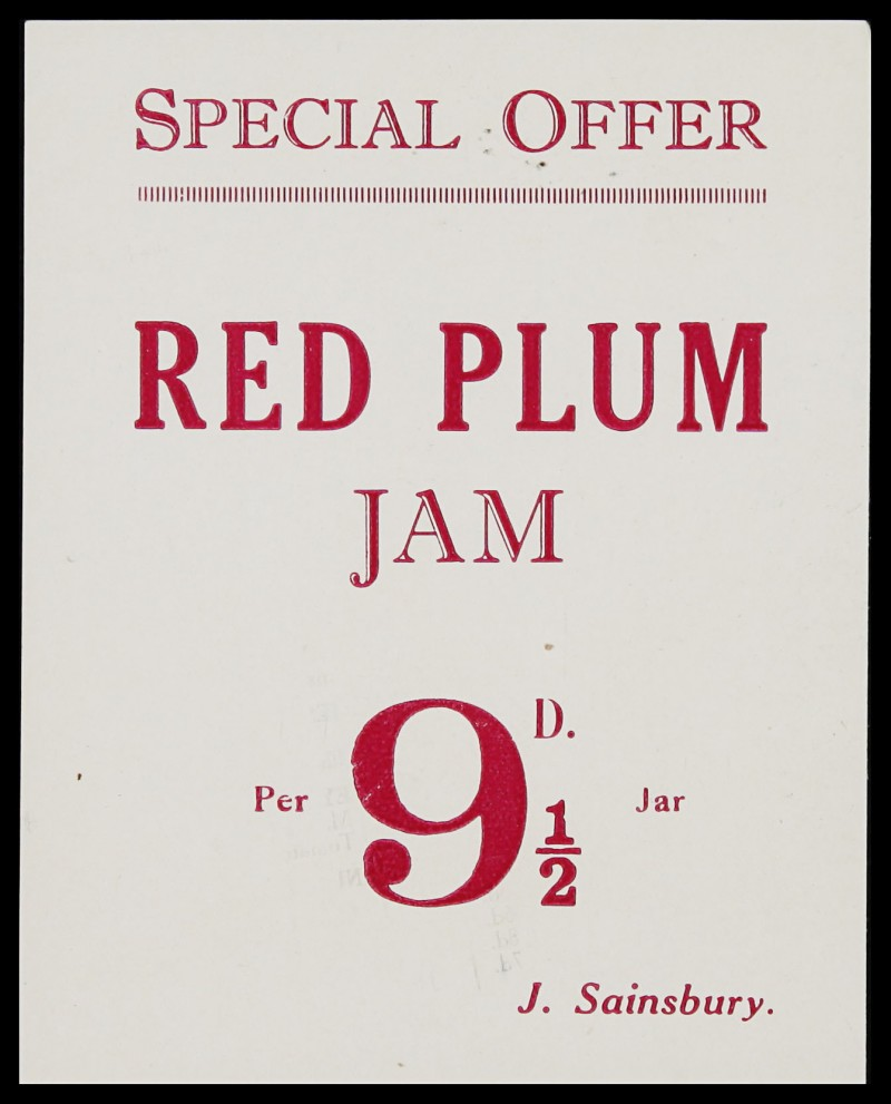 SA/MARK/ADV/3/3/7/7 - 'Special Offer. Red Plum Jam' leaflet