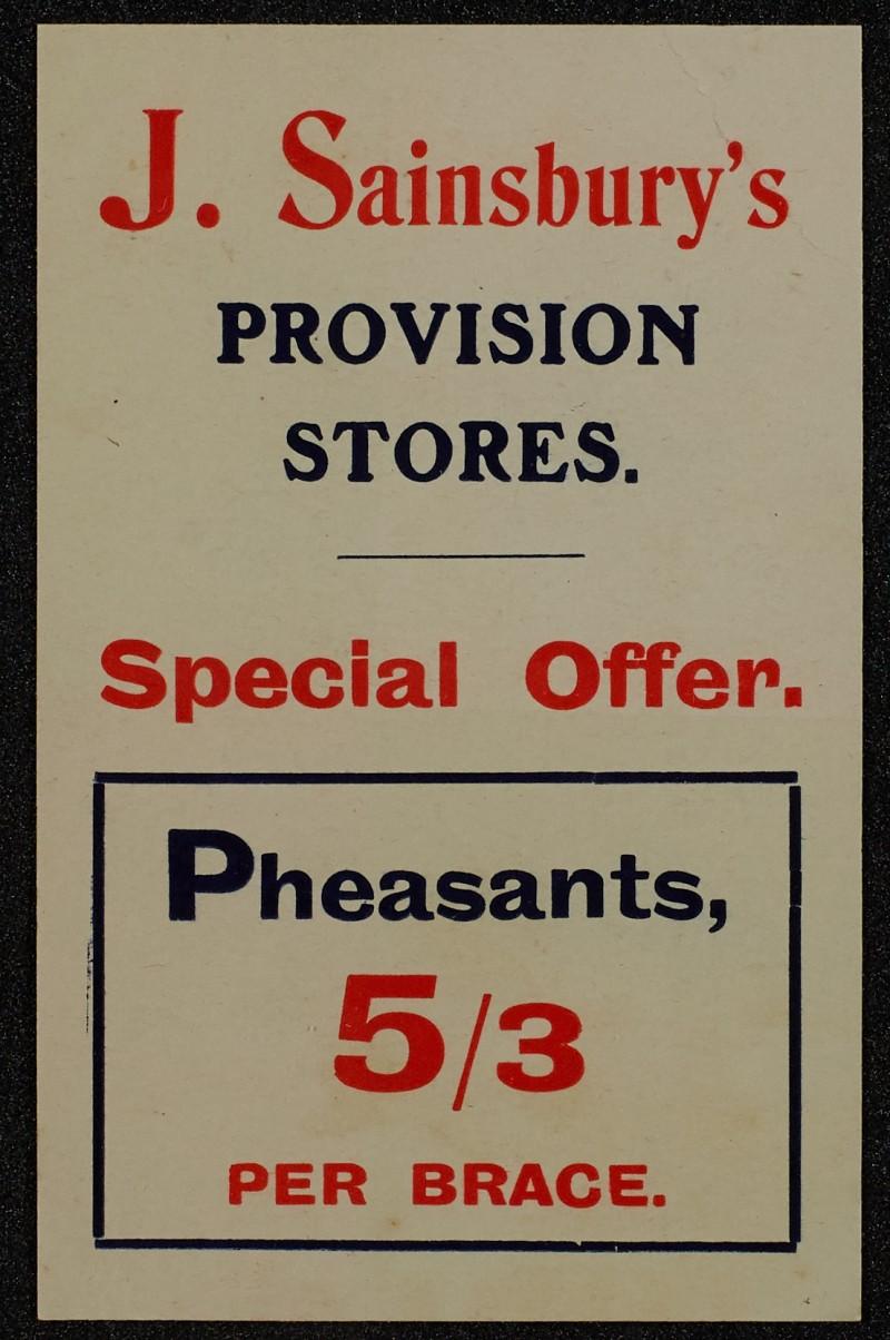 SA/MARK/ADV/1/1/1/1/1/6/1/10 - Pheasants advertisement, 1909