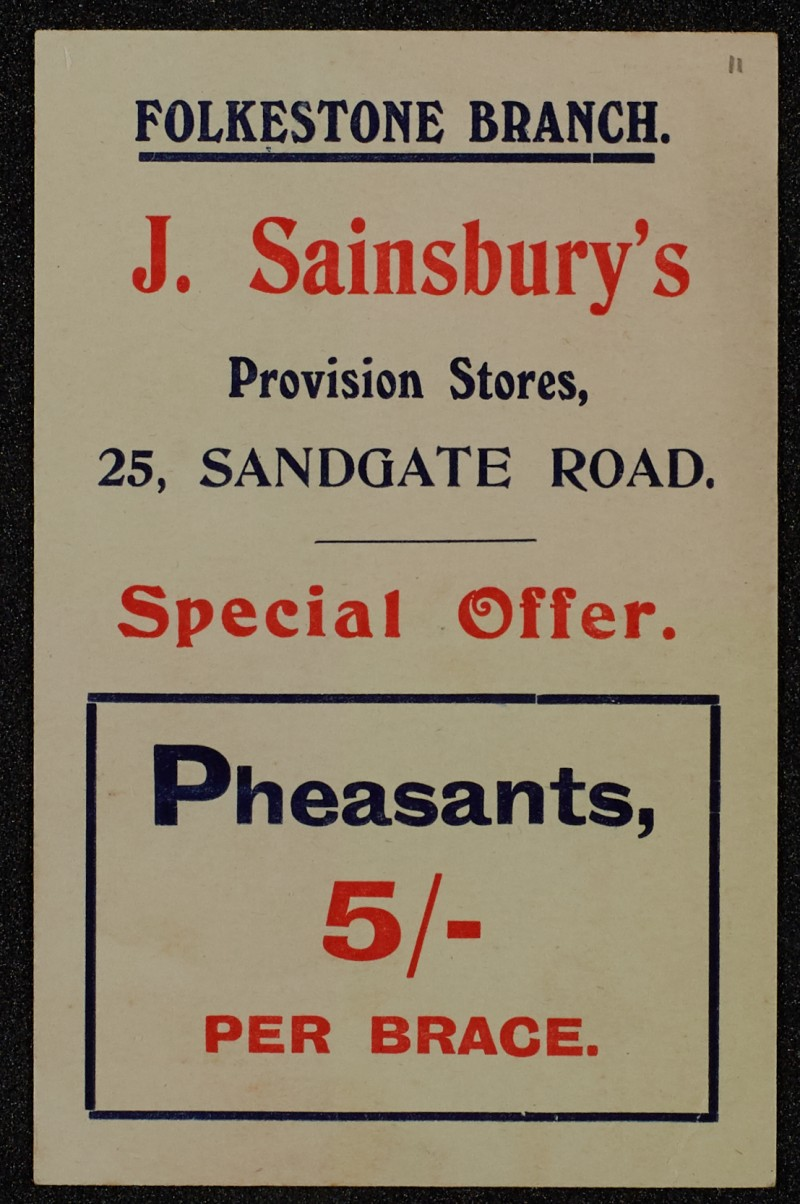 SA/MARK/ADV/1/1/1/1/1/6/1/11 - Pheasants advertisement, 1909