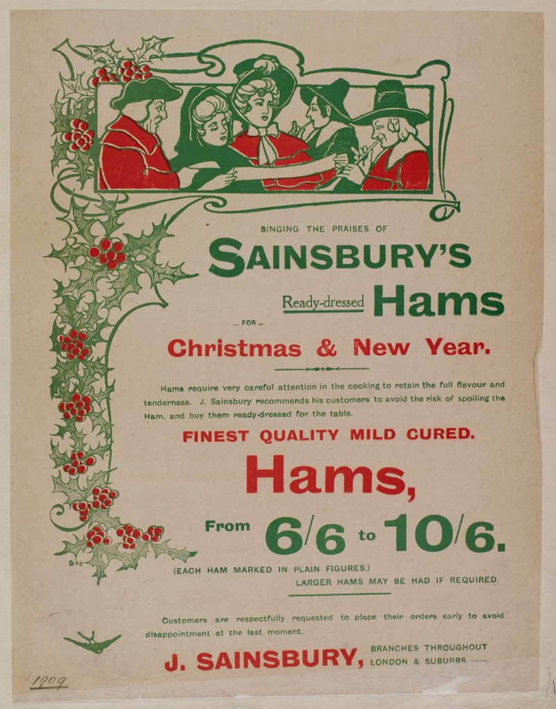 SA/MARK/ADV/1/1/1/1/1/6/1/15 - Christmas hams advertisement, 1909