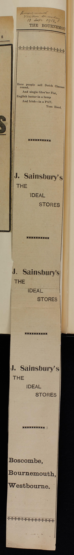 SA/MARK/ADV/1/1/1/1/1/6/1/160 - Broadsheet advert for Cheese and Butter, 1913