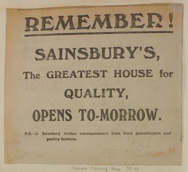 SA/MARK/ADV/1/1/1/1/1/6/1/170 - Newspaper advert for [Norwich] store opening from Eastern Evening News