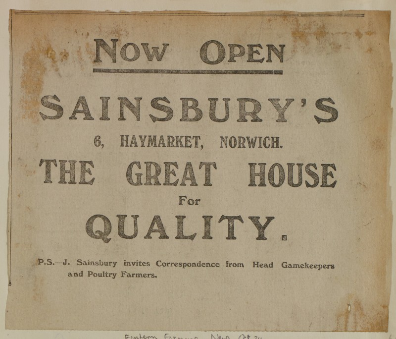 SA/MARK/ADV/1/1/1/1/1/6/1/172 - Newspaper advert for Opening of Store, Eastern Evening News, 1913