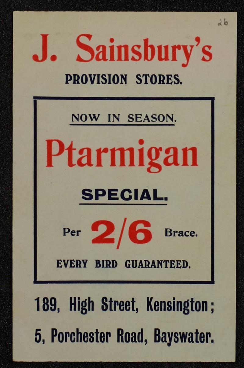 SA/MARK/ADV/1/1/1/1/1/6/1/25 - Ptarmigan advertisement, 1910