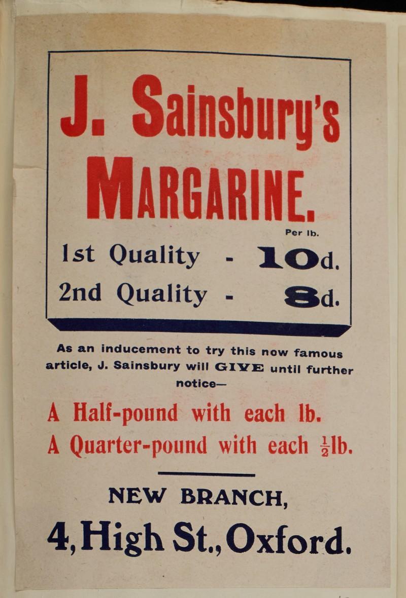 SA/MARK/ADV/1/1/1/1/1/6/1/43 - Margarine Offer, Branch Opening, 4 High Street Oxford, [1910]