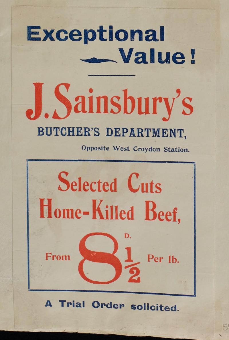 SA/MARK/ADV/1/1/1/1/1/6/1/55 - Advert for Home-killed Beef, [1910]