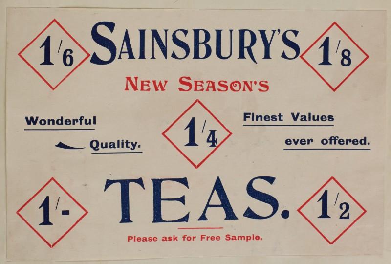 SA/MARK/ADV/1/1/1/1/1/6/1/62 - Advert for New seasons Teas, 1910