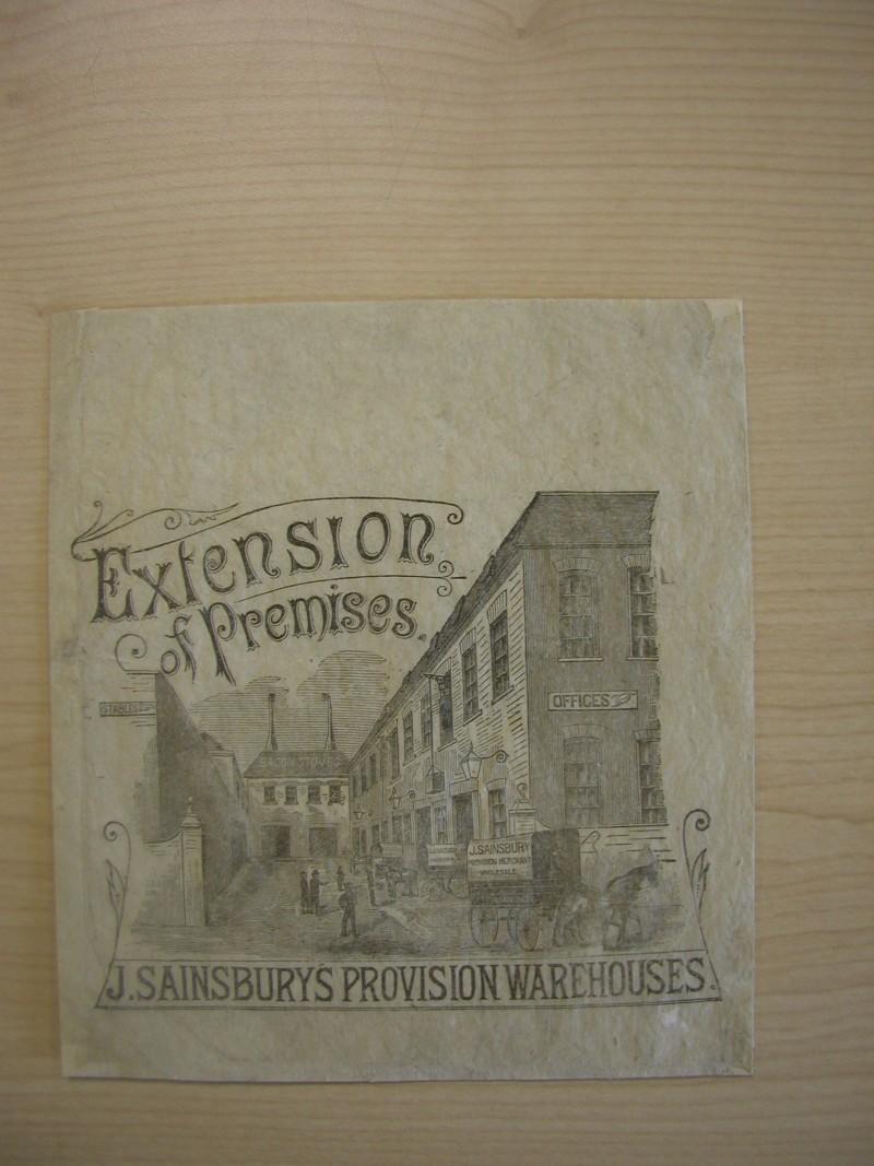 SA/PKC/PAC/6/1/1/12 - J. Sainsbury's provision warehouses - extension of premises paper bag