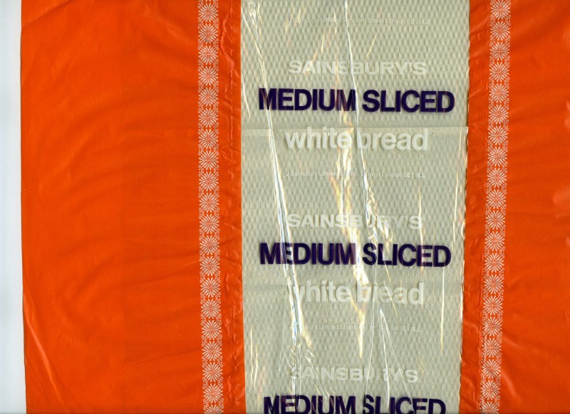 SA/PKC/PRO/1/1/2/1/1/15 - Sainsbury's Medium Sliced White bread packaging