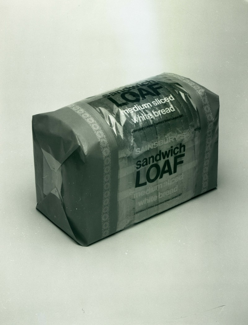 SA/PKC/PRO/1/1/3/1/1 - Photograph of Sainsbury's Sandwich Loaf (medium sliced white bread), 1970s