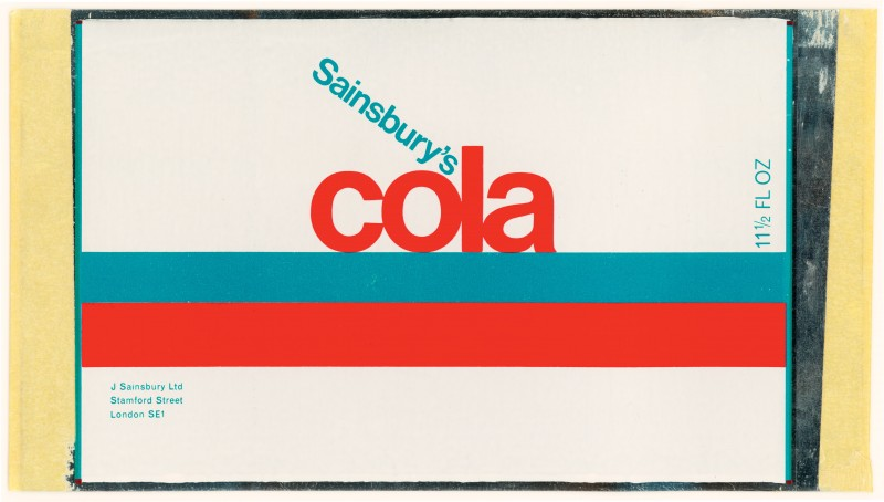SA/PKC/PRO/1/11/2/2/30/1 - Sainsbury's Cola 11½ fl oz proof of label, c. 1970