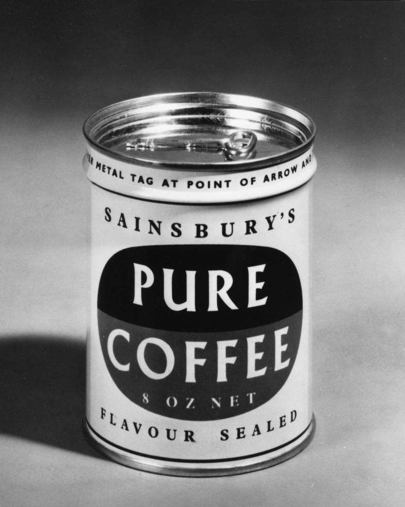 SA/PKC/PRO/1/11/4/a1/4 - Photograph of Sainsbury's Pure Coffee tin