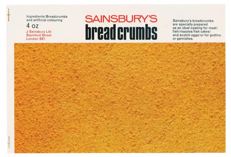 SA/PKC/PRO/1/14/2/2/50/1 - Sainsbury's Breadcrumbs 4oz label, 1967