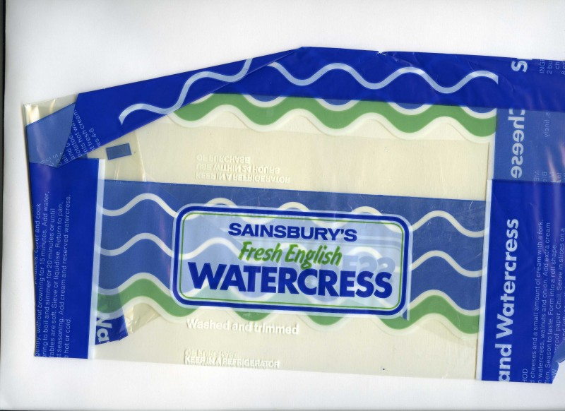 SA/PKC/PRO/1/17/2/8/1 - Sainsbury's Fresh English Watercress packet, 1980s-1990s
