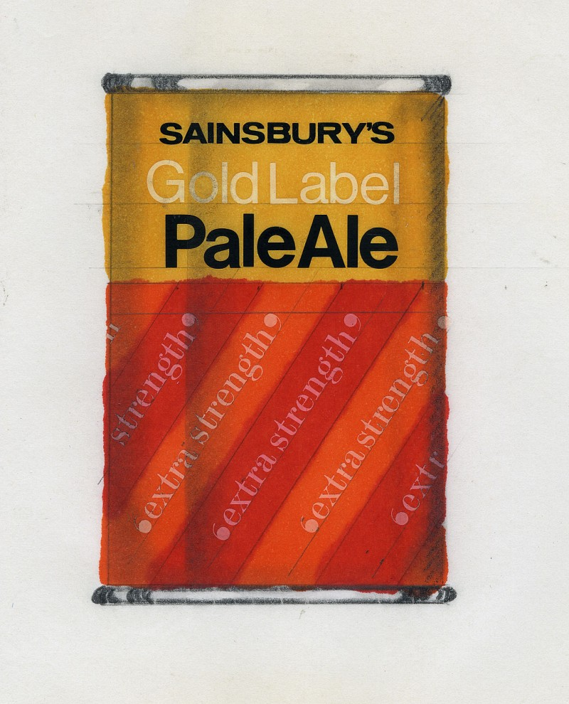 SA/PKC/PRO/1/18/1/11/2 - Sainsbury's Gold Label Pale Ale can design