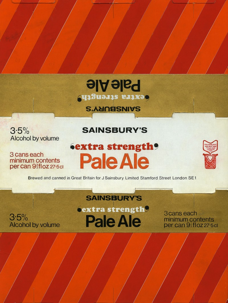 SA/PKC/PRO/1/18/1/11/3 - Sainsbury's Extra Strength Pale Ale (pack of 3 cans) packaging design