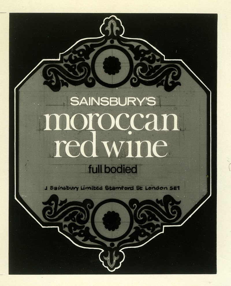 SA/PKC/PRO/1/18/1/22 - Sainsbury's Moroccan red wine packaging design
