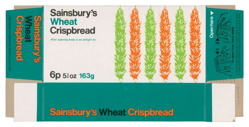 SA/PKC/PRO/1/2/2/2/11/1 - Sainsbury's Wheat Crisp Bread Packaging, 1970s
