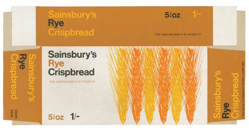 SA/PKC/PRO/1/2/2/2/7/1 - Sainsbury's Rye Crispbread packaging, 1960s-1970s