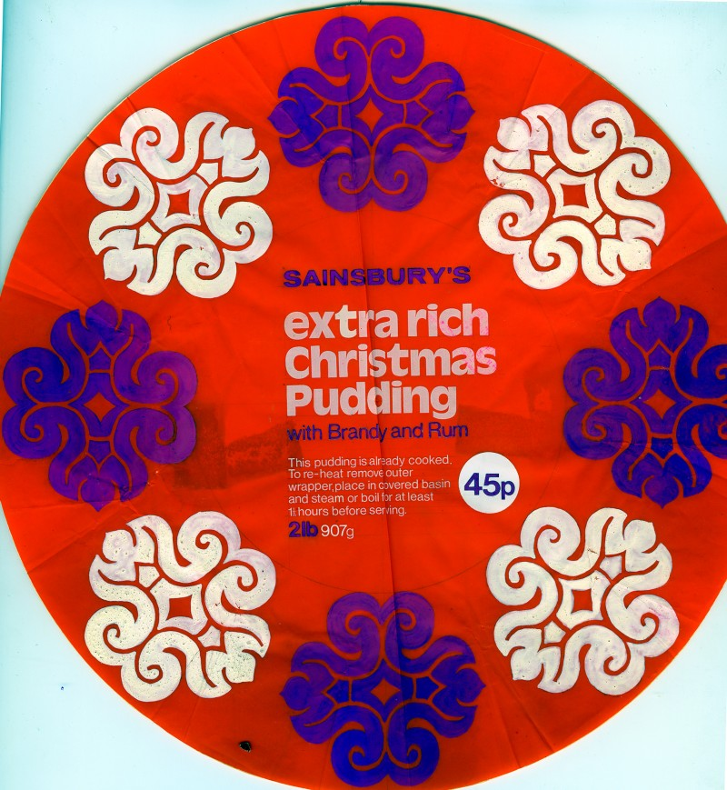 SA/PKC/PRO/1/3/1/109/1 - Sainsbury's Extra Rich Christmas Pudding with Brandy and Rum packaging mockup