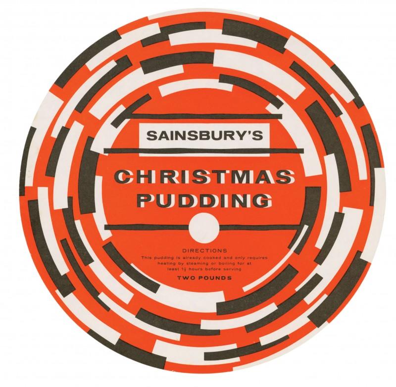 SA/PKC/PRO/1/3/2/5/3/2 - Sainsbury's Christmas Pudding (two pounds) label, c. 1965