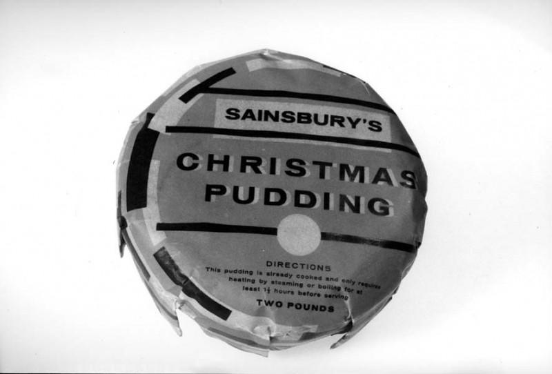 SA/PKC/PRO/1/3/4/a2/1 - Photograph of Sainsbury's Christmas Pudding packaging