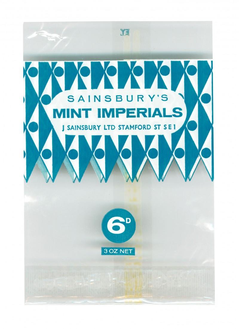 SA/PKC/PRO/1/4/2/2/3/2/1 - Sainsbury's Mint Imperials packet, 1963