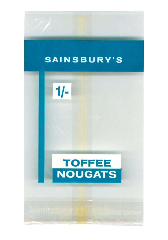 SA/PKC/PRO/1/4/2/2/5/23/1 - Sainsbury's Toffee Nougats packet, 1960s