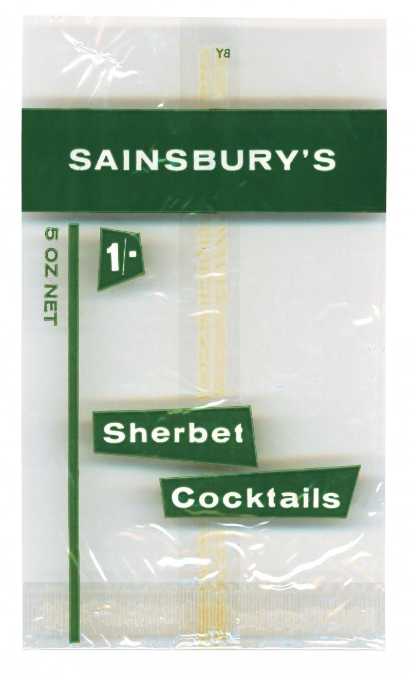 SA/PKC/PRO/1/4/2/2/5/29/1 - Sainsbury's Sherbet Cocktails packet, 1960s