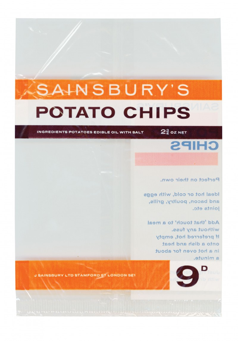 SA/PKC/PRO/1/4/2/3/1/2/1 - Sainsbury's Potato Chips packet, c. 1967
