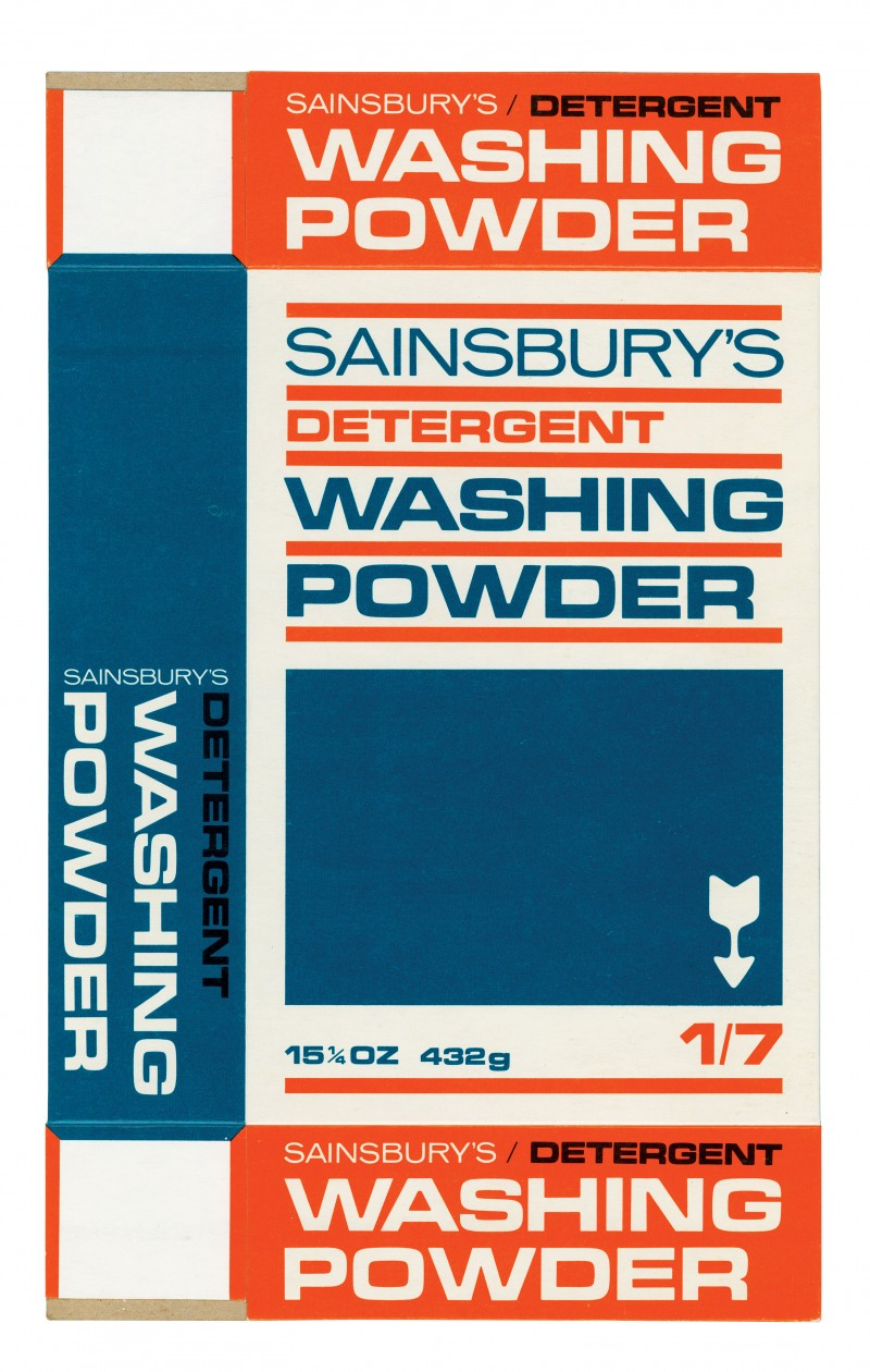 SA/PKC/PRO/2/4/2/32/1 - Sainsbury's Detergent Washing Powder 15¼oz 432g (1/7) packet (proof), 1970