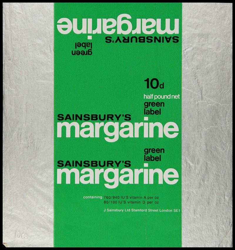 SA/PKC/PRO/1/6/2/1/3/6 - Sainsbury's green label margarine packaging