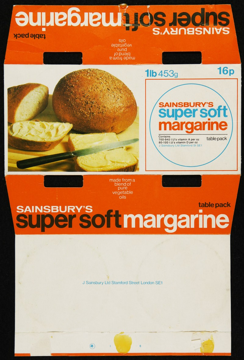 SA/PKC/PRO/1/6/2/1/3/8 - Sainsbury's super soft margarine packaging