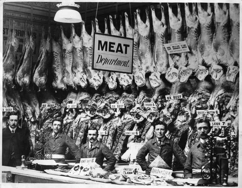 SA/RET/1/IMA/1/1 - Photograph of display in the meat department in Coppen Brothers shop [Richmond]