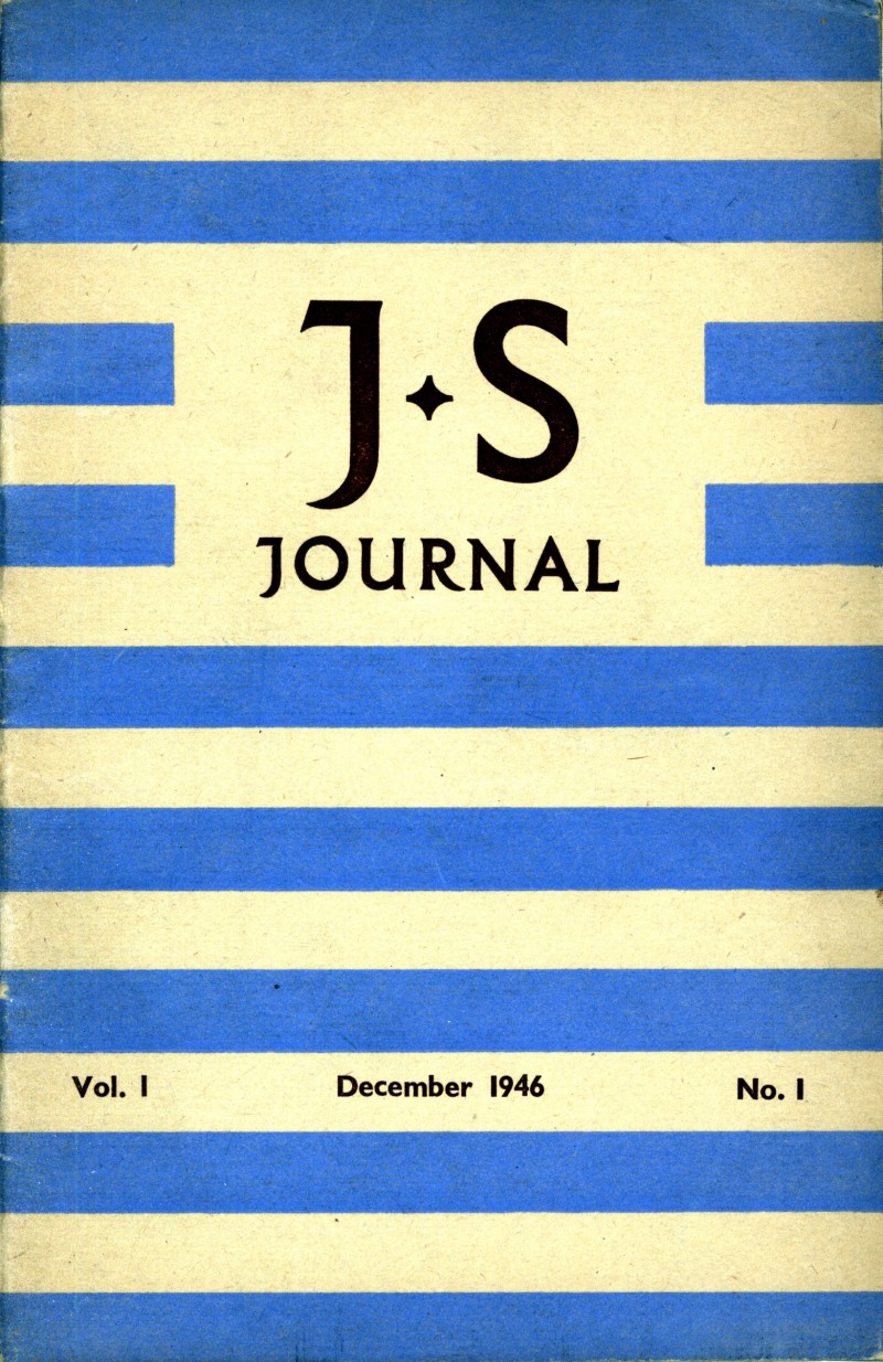 SA/SC/JSJ/1/1 - JS Journal Vol. 1 No. 1
