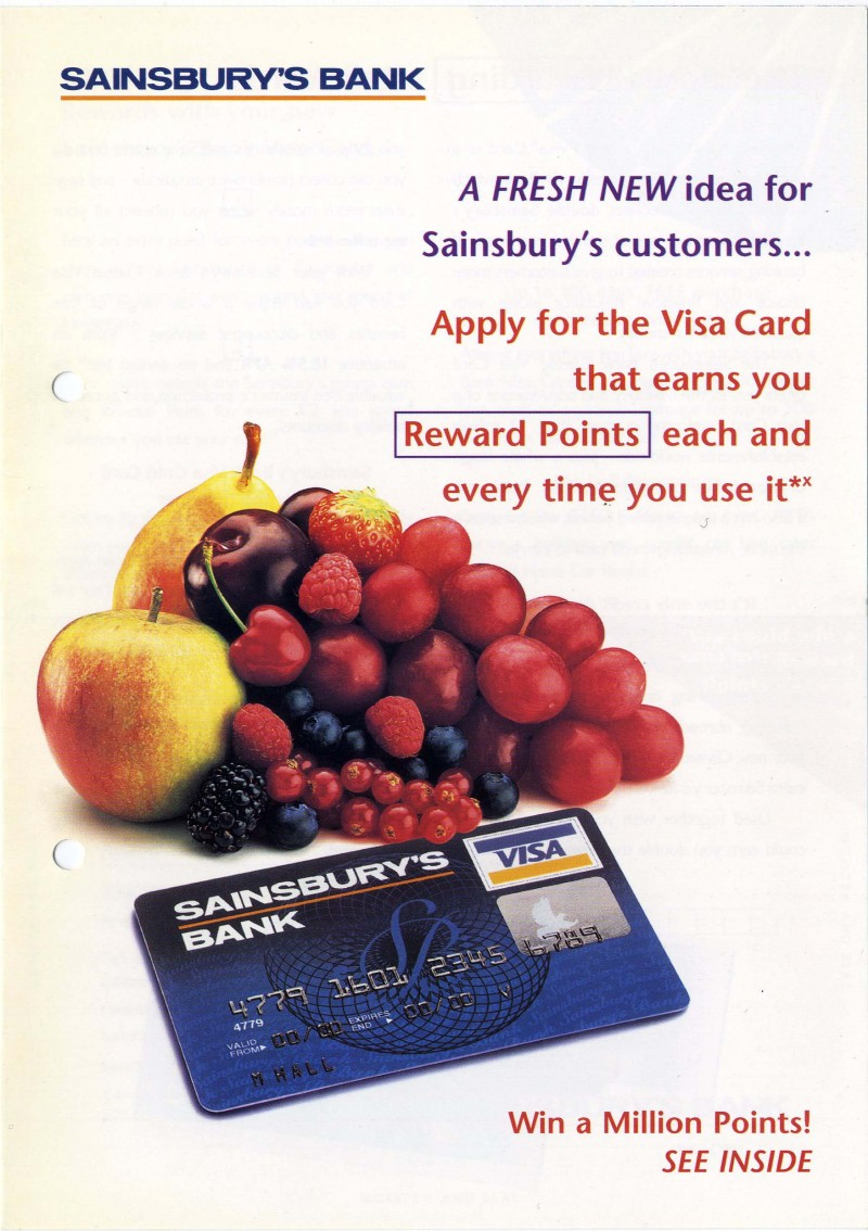 "SA/SUB/BNK/2/1 - Sainsbury's Bank Visa Card brochure ""A fresh new idea for Sainsbury's customers…"""