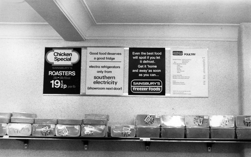 SA/SUB/FRE/6/14 - Photograph of posters in a Freezer Centre, 1970s